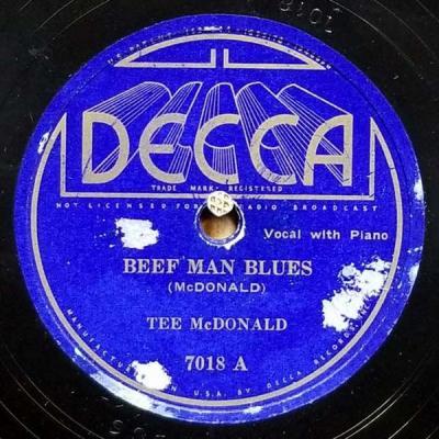 3b647538f Tee McDonald / Peetie Wheatstraw. Beef Man Blues / Throw Me In The Alley