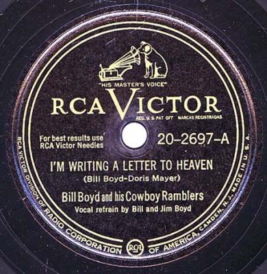Bill Boyd -- I'm Writing A Letter To Heaven / Vacant Heart